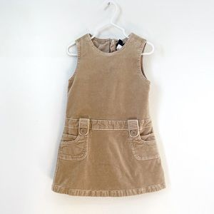 babyGAP Tan Camel Velvet Pocket Dress Sz 3